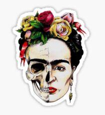 Frida Kahlo Half Skull Sticker