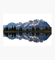 Reflected Austrian Mountains Photographic Print