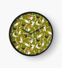beagle scatter green Clock
