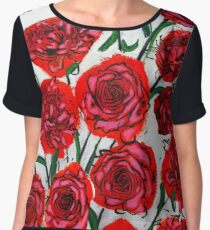 Stop and Smell the Roses Chiffon Top