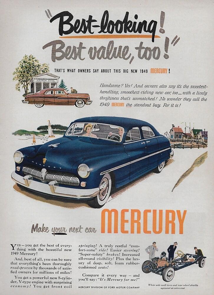 vintage 1949 Mercury ad by James-Smullins