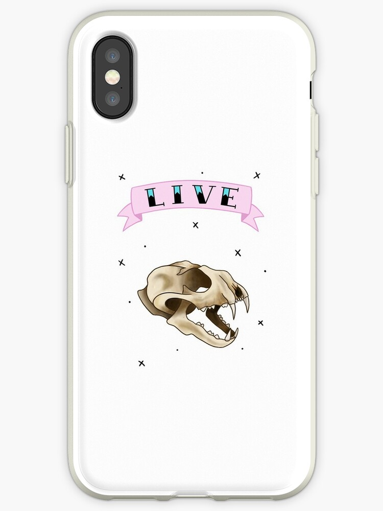 LIVE- Cat Skull (Phone Accessories) by StopTryingEmily
