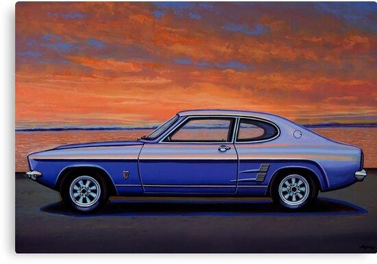 Ford Capri 1969 Painting by PaulMeijering