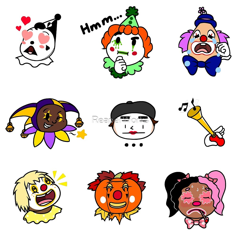 Clown Emojis (Set 1) by ReaperWorks
