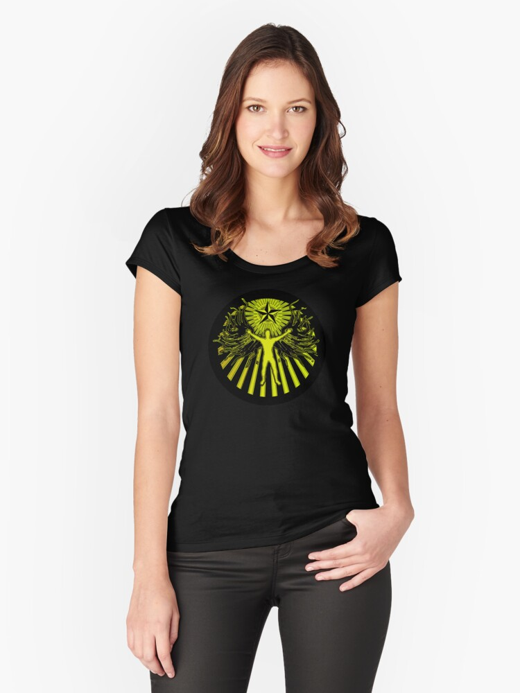 THE LIGHT BRINGER Women's Fitted Scoop T-Shirt Front