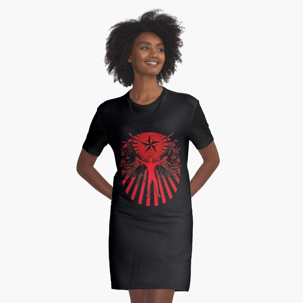 THE LIGHT BRINGER Graphic T-Shirt Dress Front