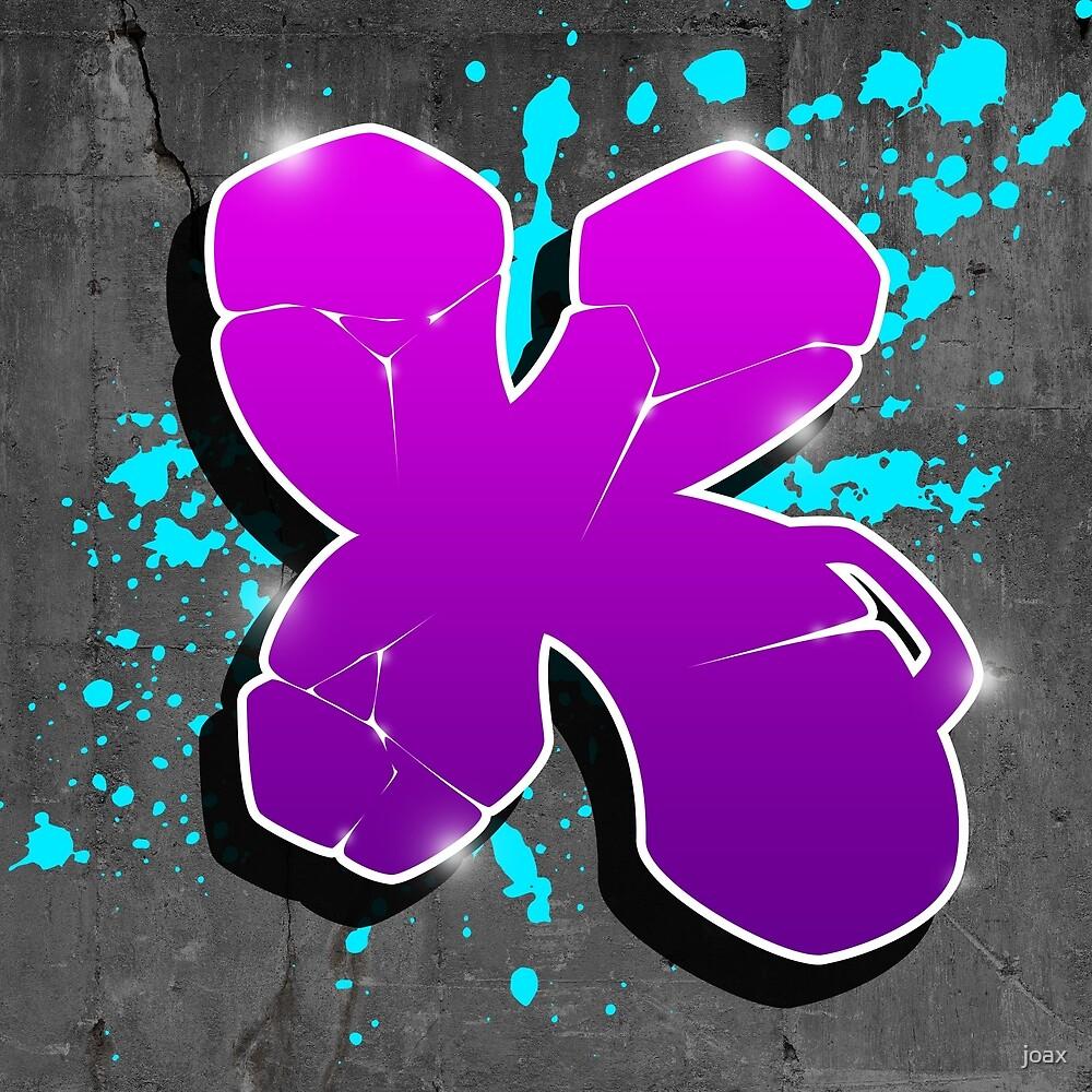 X - Graffiti letter by joax