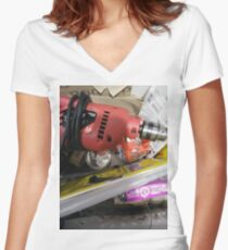 Technopunk Steampunk Women's Fitted V-Neck T-Shirt