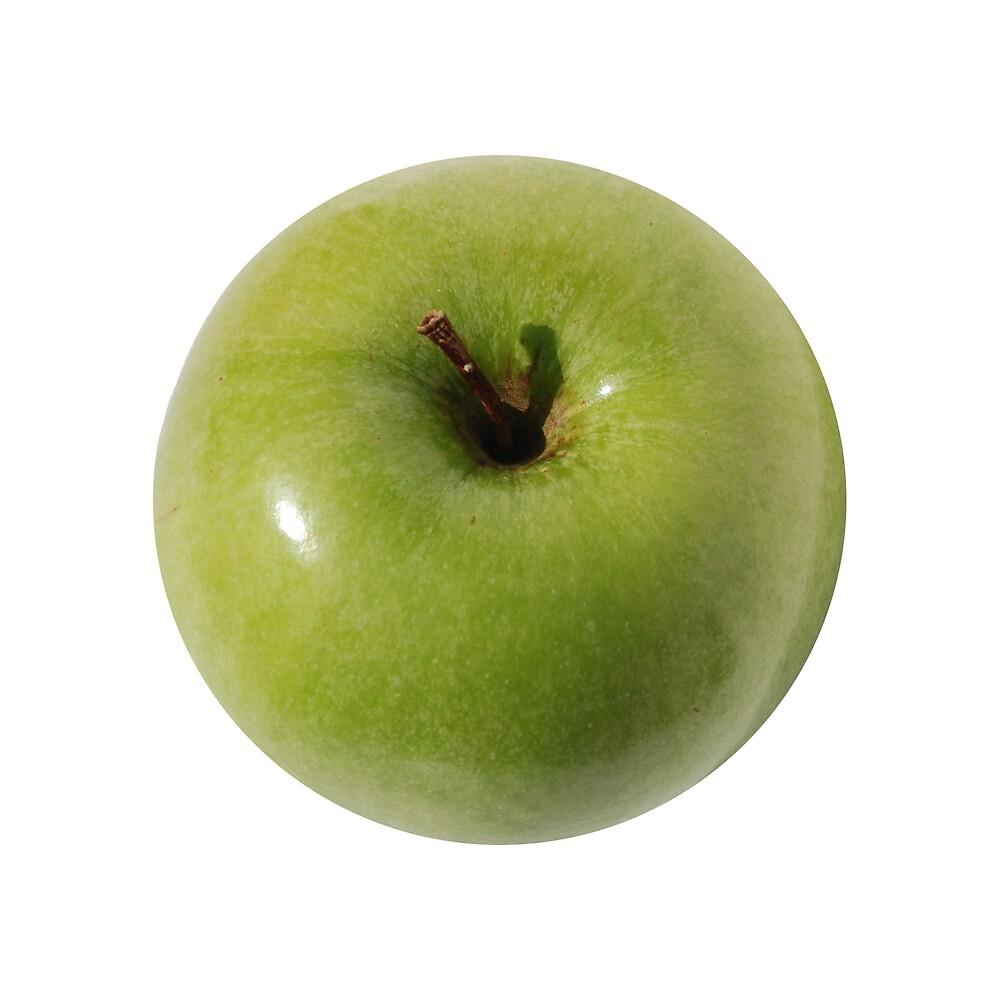 Isolated Green Apple  by jojobob