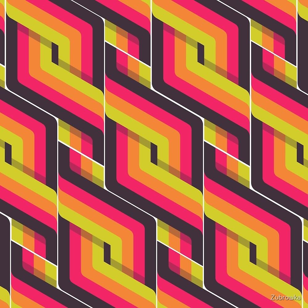 70's Retro Swirls // Hot by Zubrowka