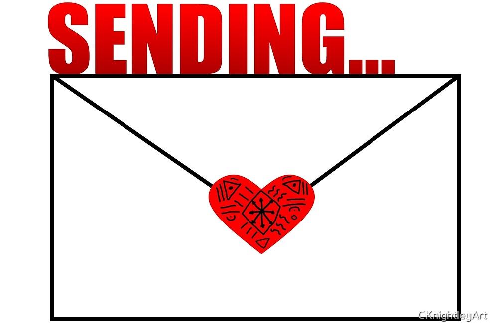 Sending Love Mail  by CKnightleyArt