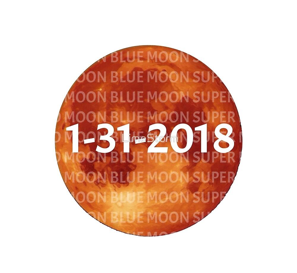Blood Moon Blue Moon Super Moon by LimeStorm