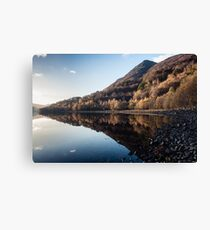 Autumn Reflections at Loch Leven Canvas Print