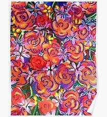 Coral Roses Poster