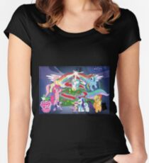 My Little Pony X-Mas  Women's Fitted Scoop T-Shirt