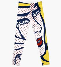 Crying Girl, Homage to Roy Lichtenstein Leggings