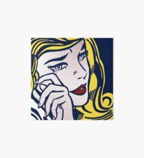 Crying Girl, Homage to Roy Lichtenstein Art Board