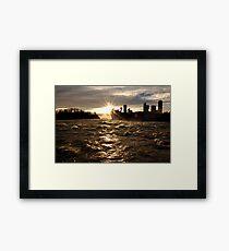 December Evening-Niagara Falls Framed Print
