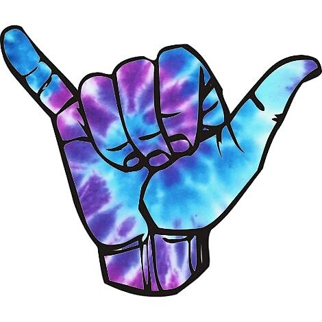 blue and purple shaka by stickersnstuff
