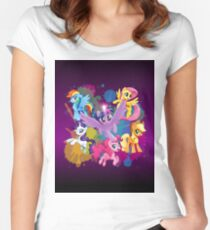 mlp mane six Women's Fitted Scoop T-Shirt