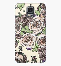 blasse Blumen Hülle & Klebefolie für Samsung Galaxy