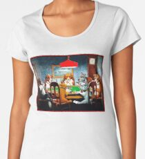 DOGS PLAYING POKER : Vintage C M Coolidge Print Women's Premium T-Shirt