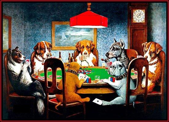 Posters Perros Jugando Al Poker Vintage Cm Coolidge Print De