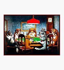 DOGS PLAYING POKER : Vintage C M Coolidge Print Photographic Print
