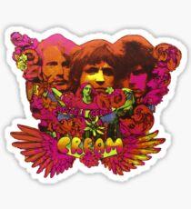 Cream band psychedelic album cover  Sticker