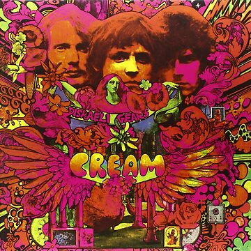 Cream band psychedelic album cover by ShayMcG