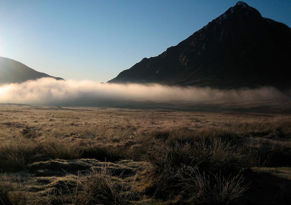 Mist in Scottish Highlands by jojobob