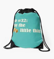 Rule 32 Enjoy the little things Drawstring Bag