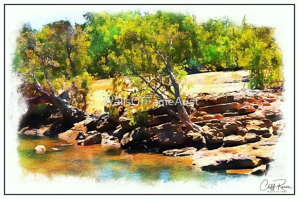Geikie Gorge Digital Painting Kimberley Western Australia by WallsOfFameAust