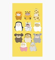 Cutie babies in teddy costumes Photographic Print