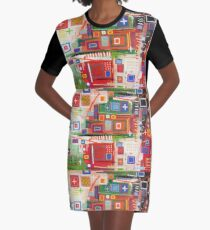City Map Graphic T-Shirt Dress