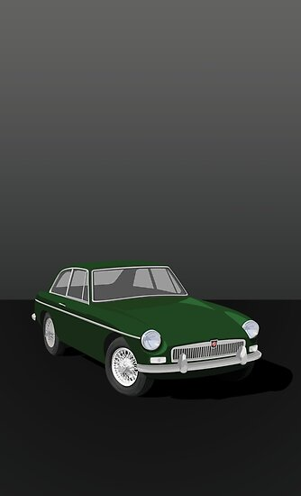 MGB GT Graphic Poster -Green by NickShirrell