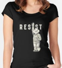 Beer resist politic all Women's Fitted Scoop T-Shirt