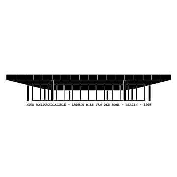 Neue Nationalgalerie Mies Van Der Rohe Architecture Tshirt by pohcsneb