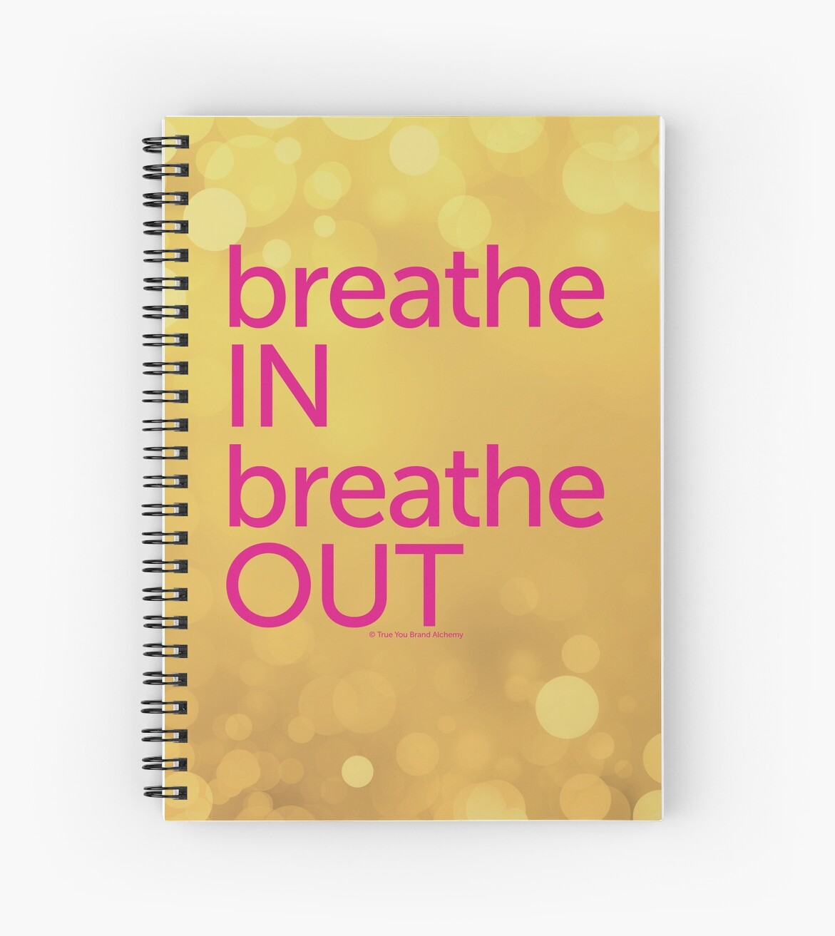 Breathe In, Breathe Out Golden Journal by ElaineCallahan