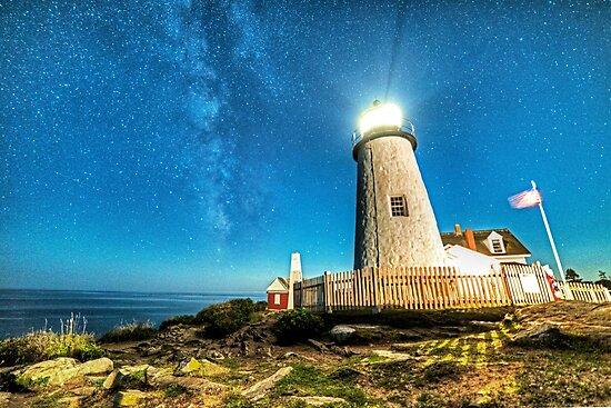 Pemaquid Point Lighthouse Bristol Road Maine by WayneOxfordPh