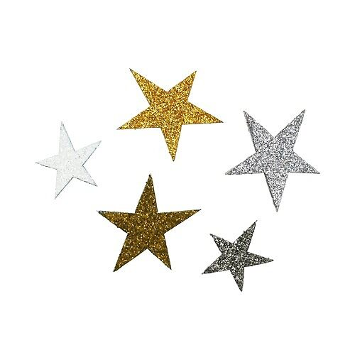 glittery stars by kathumphrey