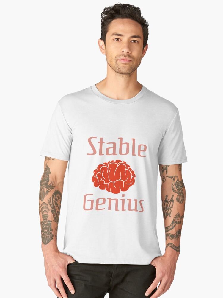 Trump Twitter Stable Genius Men's Premium T-Shirt Front