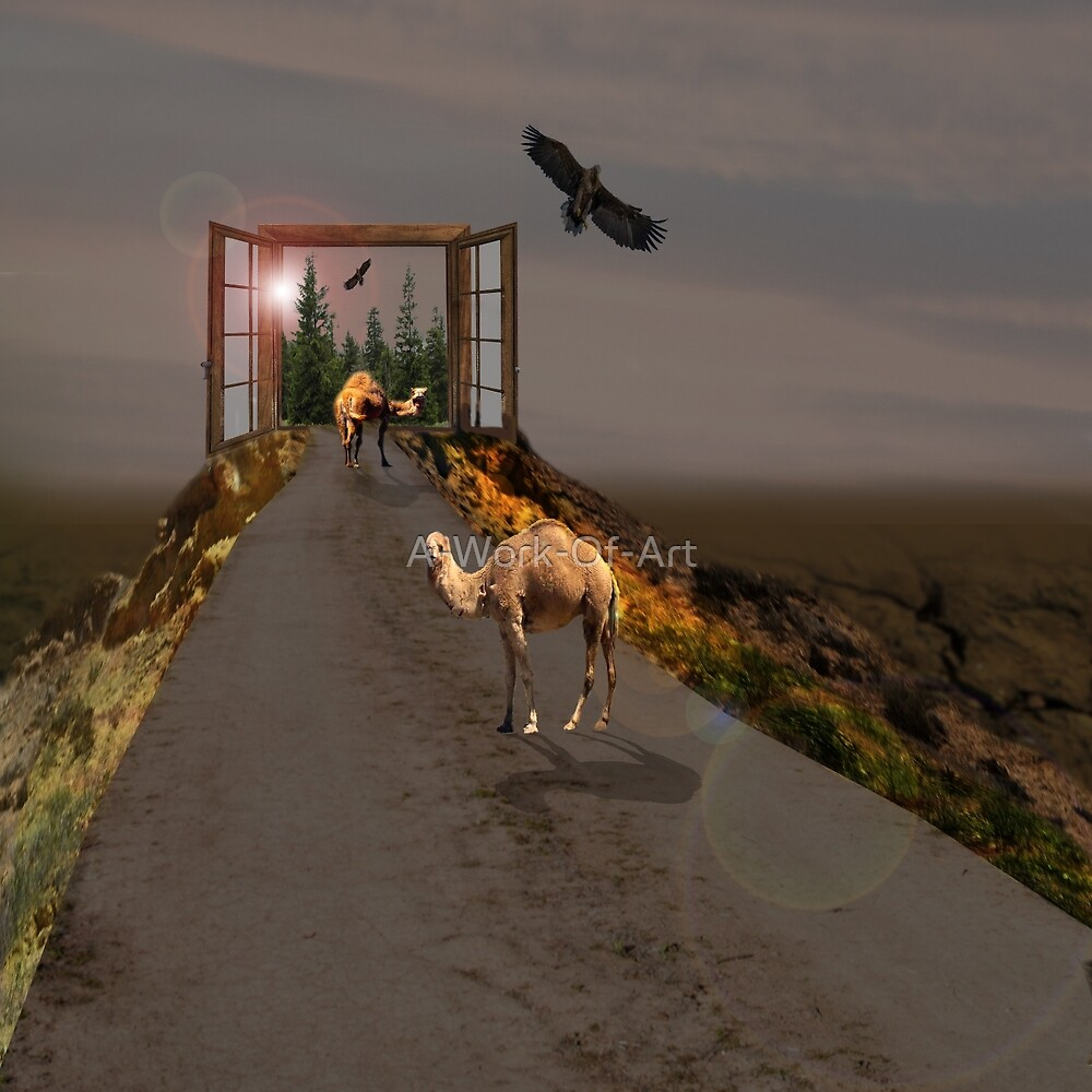 Camels Heading To Wonderland, by A-Work-Of-Art