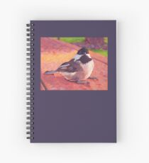 Chickadee Fledgling Chick Spiral Notebook