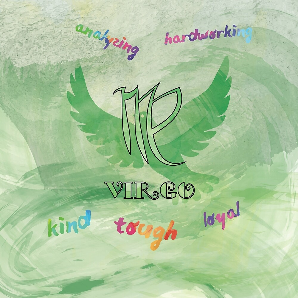Virgo Watercolor Zodiac by Bassticky