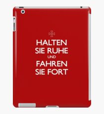 KEEP CALM IN GERMAN iPad Case/Skin