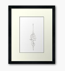 Journey to Enlightenment // Unalome Framed Print