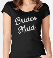 Bridesmaid T-shirt Women's Fitted Scoop T-Shirt