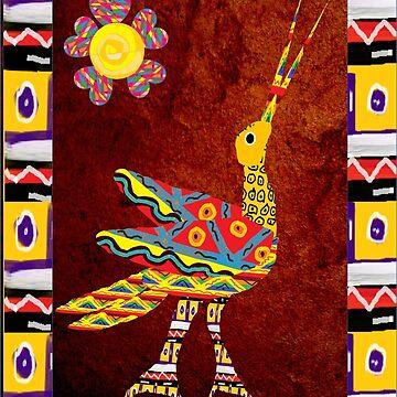 Crane Alebrije by luzmita14