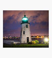 Goat Island Lighthouse Newport RI Photographic Print